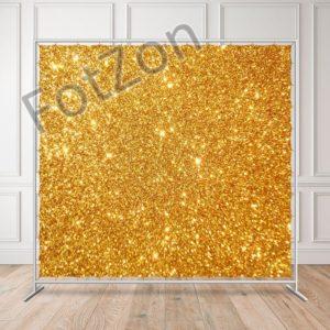 Баннер с блестками золотой в аренду