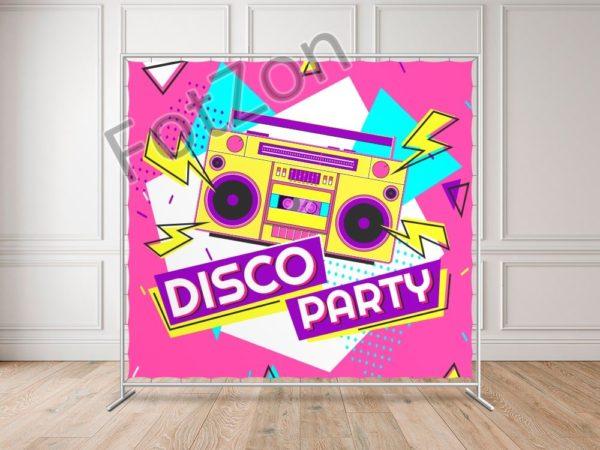 Баннер в стиле Диско для вечеринки в стиле 80 х