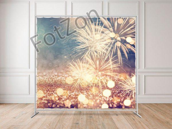 Баннер с изображением фейерверков