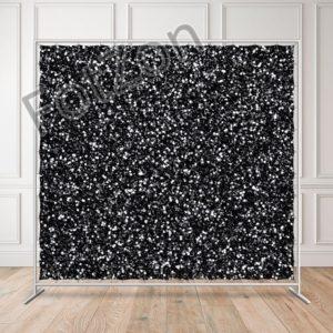 Баннер с изображением блесток на черном фоне