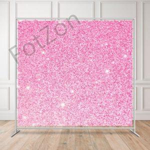 Баннер серебрянное конфетти на розовом фоне