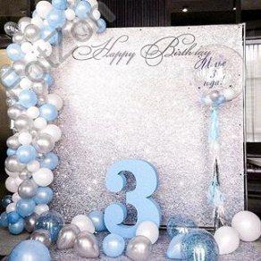 Фотозона на день рождения ребенка с шарами