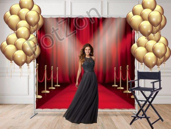 Фотозона с ковровой дорожкой в стиле Оскар