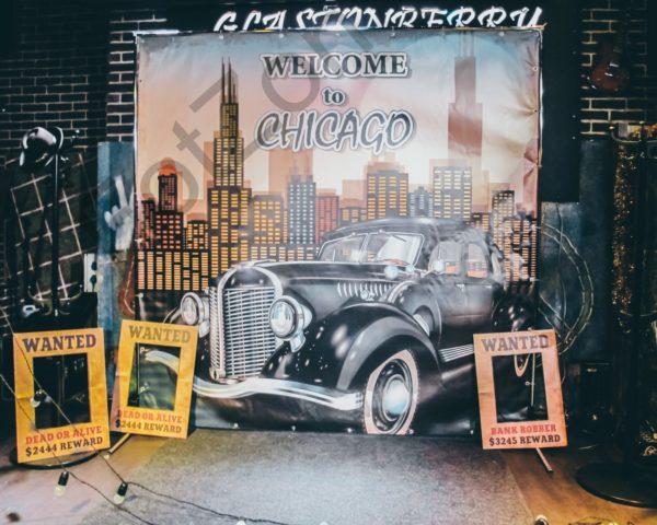 Фотозона тематическая в стиле Чикаго и Мафия в аренду Москва