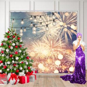 Новогодняя фотозона с елкой
