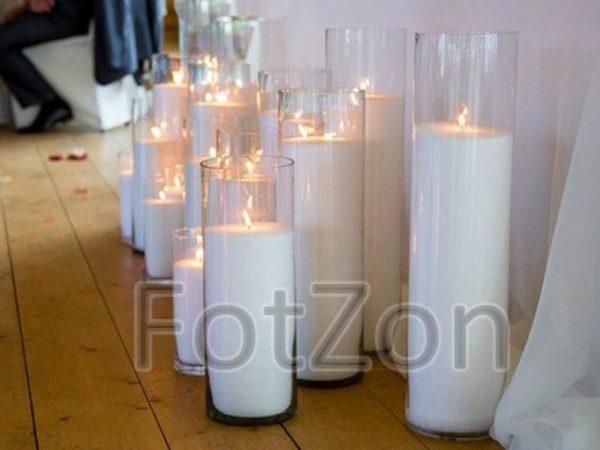 Цилиндры с насыпными свечами в аренду Москва