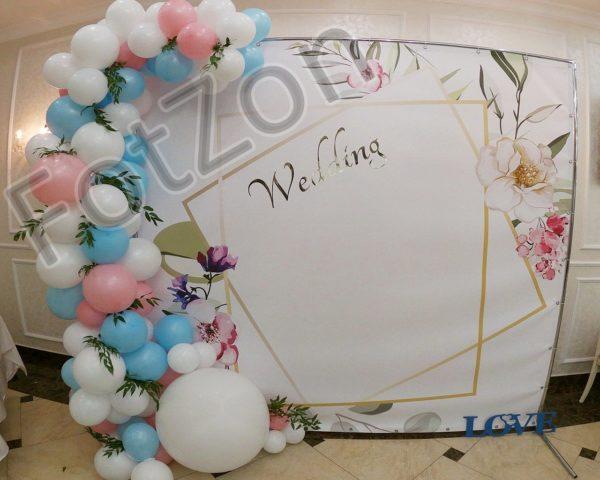 Фотозона с цветами и шарами в аренду Москва