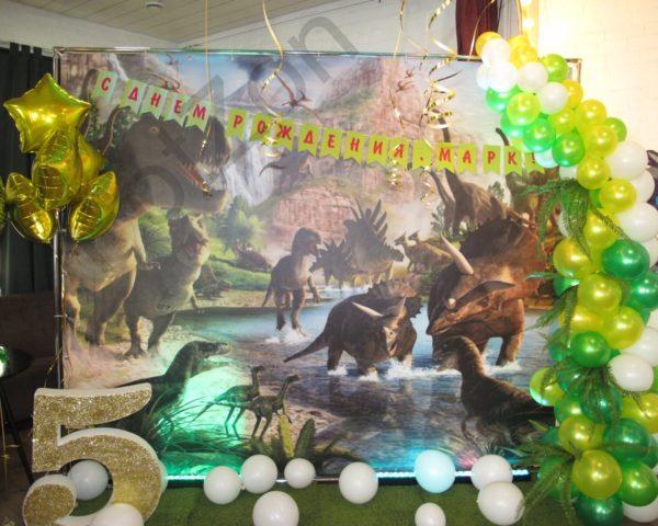 Фотозона с динозаврами в аренду на день рождения ребенка