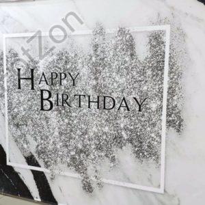 Фотозона под мрамор с блёстками на день рождения в аренду Москва